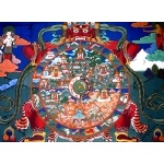 Buddhist Wheel of Life mural in Paro Dzong. Photo by Rick Taylor. Copyright Borderland Tours. All rights reserved.