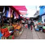San Cristobal native market scene. Photo by Rick Taylor. Copyright Borderland Tours. All rights reserved.