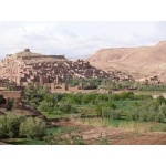 Kasbahs at Ait Benhaddou. Photo by Rick Taylor. Copyright Borderland Tours. All rights reserved.