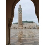 Mosque in Casablanca. Photo by Rick Taylor. Copyright Borderland Tours. All rights reserved.