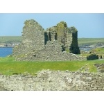 Jarlshof Broch, Mainland, Shetland Islands. Photo by Rick Taylor. Copyright Borderland Tours. All rights reserved.