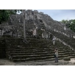 Temple II at Calakmul. Photo by Rick Taylor. Copyright Borderland Tours. All rights reserved.